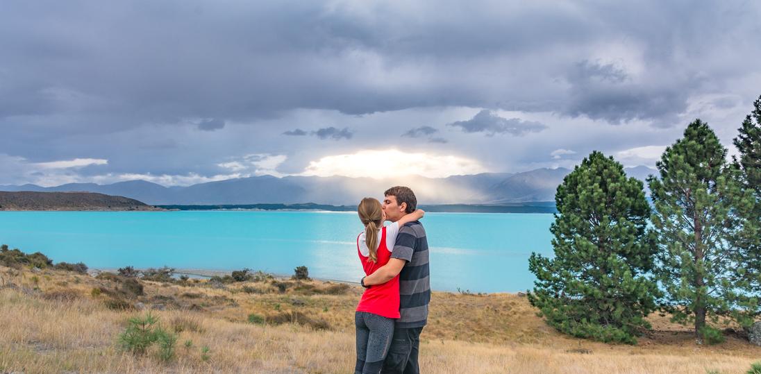 Озера Tekapo и Pukaki. Южный Остров Новой Зеландии