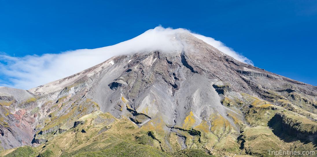 Вулкан Таранаки и столица Новой Зеландии Веллингтон