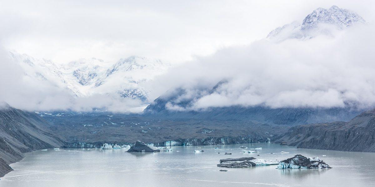 Национальный парк Аораки — ледник Тасмана и горы, любимые горы